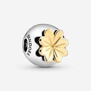 🌸Pandora Lucky Four-Leaf Clover Clip Charm